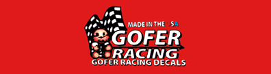 Gofer Racing Model Car Decals