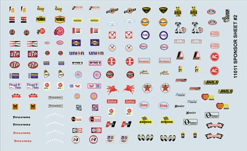 Car Model Logos And Names >> Model Car Decals | 1/24 & 1/25 Scale Decals | Gofer Racing Sponsor Sheet #2 Decal Sheet 11011