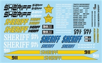 Gofer Racing Sheriff Decal Sheet 11025
