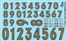 Gold Numbers Model Car Kit Decal Sheet 1/24 1/25 Scale