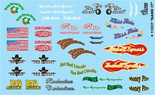 Drag Racing Decals Model Cars
