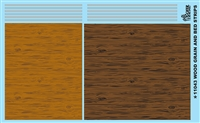 Wood Grain And Bed Strips Model Car Decal Sheet 1/24 1/25 Scale