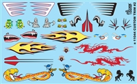 Custom Trim #2 Model Car Kit Decal Sheet 1/24 1/25 Scale