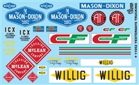 YESTERDAYS TRUCKING Model Car Decal Sheet