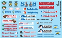 HOME TOWN SPONSORS # 3 Model Car Decal Sheet