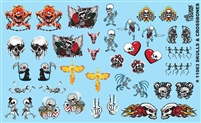 Skulls and Crossbones Decals Sheet 11063