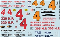 Gofer Racing Rex White 1959/1960 Chevy Decal Sheet 12004