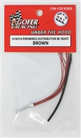 Prewired distributor brown plug wires - black boot