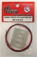Photo Etch Battery Kit Red & Black