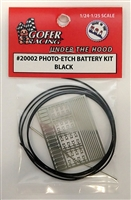 Photo Etch Battery Kit Black