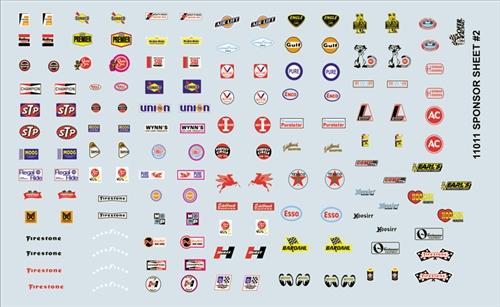 Gofer racing sponsor sheet 2 decal sheet 11011