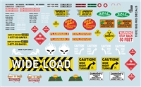 Gofer Racing Big Rig Decals Decal Sheet 11012