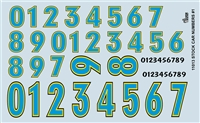 Gofer Racing Stock Car Numbers Decal Sheet 11013