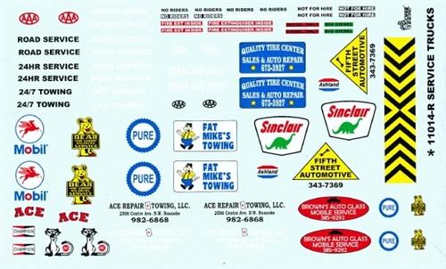 Gofer racing service trucks decal sheet 11014
