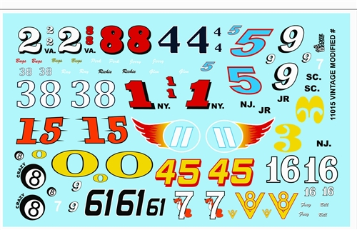 Model Car Decals Scale Decals Gofer Racing Vintage