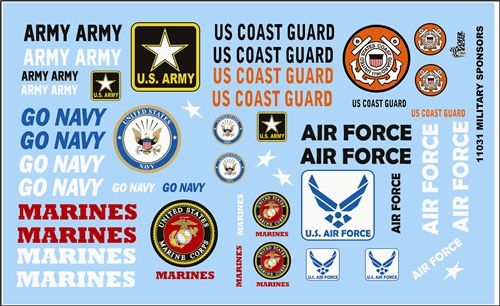 Armed Services Model Car Decal Sheet 11031