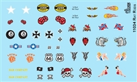 Rat Rod Model Decal Sheet