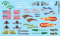 Name It Model Car Kit Decal Sheet 1/24 1/25 Scale