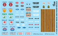 Service Truck and Pickups Decal Sheet 1/24 1/25 Scale