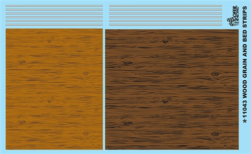 Wood Grain And Bed Strips Model Car Decal Sheet 11043 Available Late Fall 2016