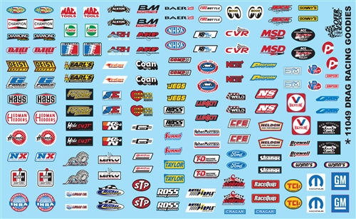 Drag Racing Goodies Sponsor Model Car Decal 11049