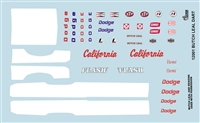 Gofer Racing Butch Leal Dart Decal Sheet 12001