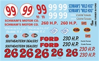 Gofer Racing Curtis Turner '56 Ford Decal Sheet 12002