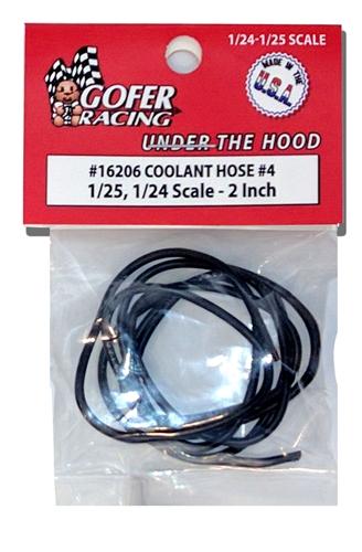 "GOFER RACING BLACK 1/"" COOLANT HOSE 1//24 AND 1//25 SCALE MODEL CAR PART"