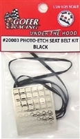 Photo Etch Seat Belt Kit - Black