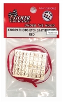 Photo Etch Seat Belt Kit Red
